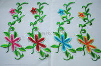 Colored embroidery patches Flower costume accessories costume national embroidery fabric 25cm*11.5cm