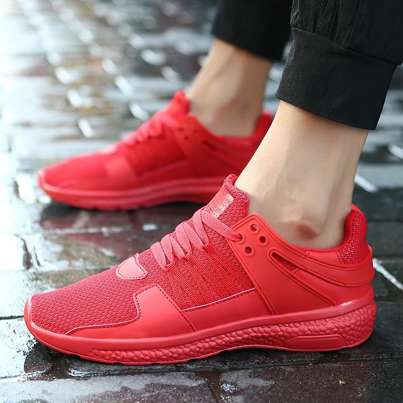 Haute Nouveau Mode Respirant Qualité Adulte Chaussures 67 À Rouge H29DYIWE