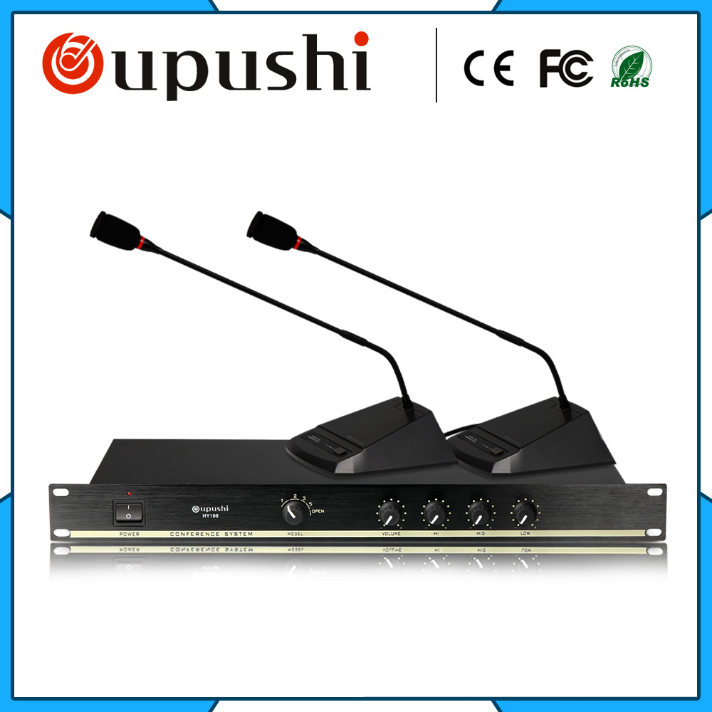 OUPUSHI HY100 Table Microphones Hand In Hand Conference Microphone With Chairman Unit Representative Unit