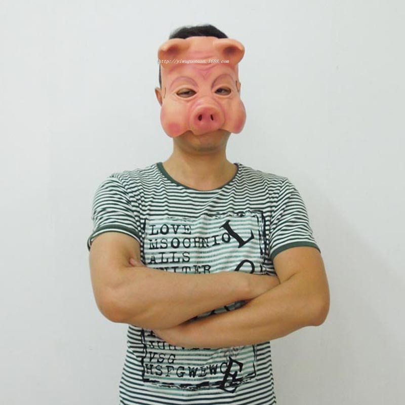 Halloween Masquerade Mask, Chainsaw Panic, 3 Pig Masks, Taobao Half Face, Fear Pig Head Mask Party Toys Movie Theme Props Supply