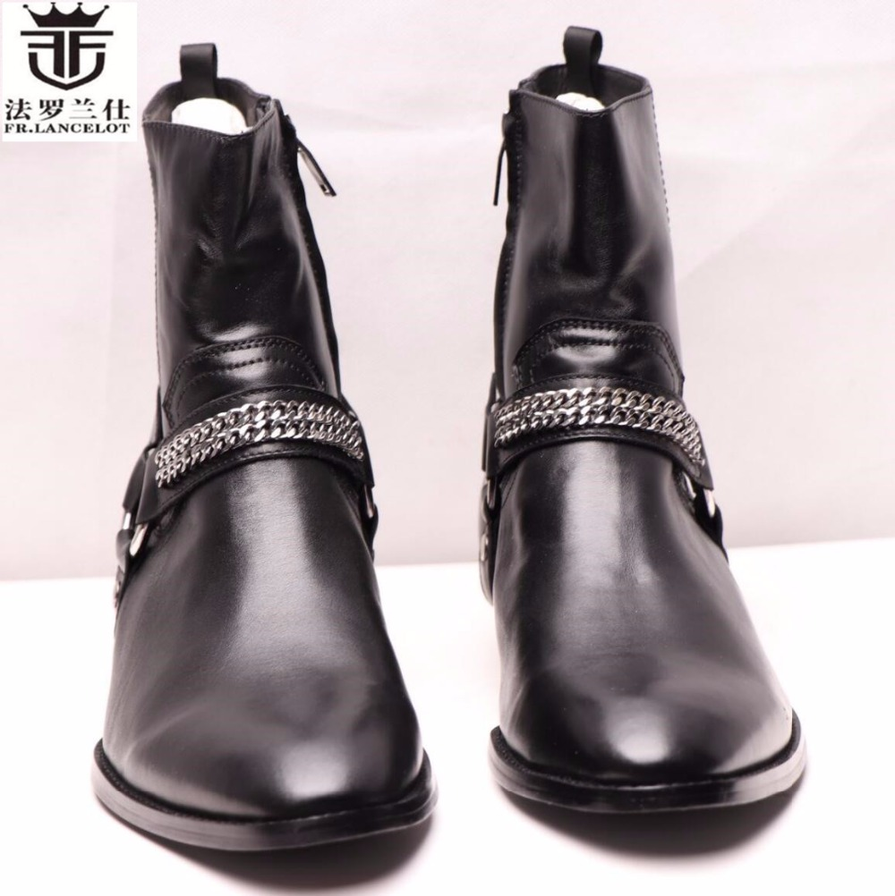 2018 FR.LANCELOT new design winter men ankle boots genuine leather men short boots luxury brand men black men high chelsea boots 2018 fr lancelot new design winter men ankle boots genuine leather men short boots luxury brand men black men high chelsea boots