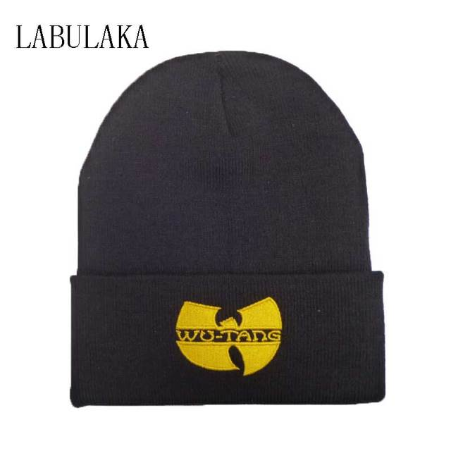 10df60648 US $4.84 |WU TANG Hat Unisex Mask Fashion Winter WU TANG CLAN Beanie Hats  For Women Men Acrylic Black Knitted Caps Ski Crochet Gorros Toca-in  Skullies ...