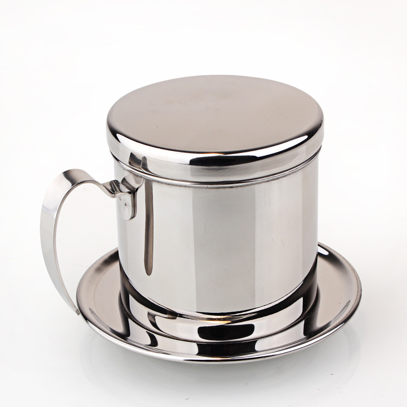 Stainless Steel Vietnamese Drip Coffee Filter Maker Pot Infuser For Office Home Traveling Coffee Maker Dripper Mechanism