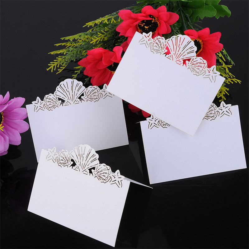 50pcs white color Laser Cut Place Cards Wedding Name invitation Cards For Wedding Party Table wedding decoration,wedding 1 design laser cut white elegant pattern west cowboy style vintage wedding invitations card kit blank paper printing invitation