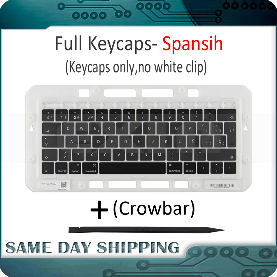 US $11 99 |Laptop A1989 A1990 Spanish Spain Keyboard Keycaps Keys key Cap  Replacement for Apple Macbook Pro Retina 13