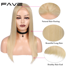 4x4 Lace Closure Wigs Lace Front Straight Remy Human Hair Wigs #613 Pre Plucked Natural Hairline DHL Free Shipping FAVE Hair