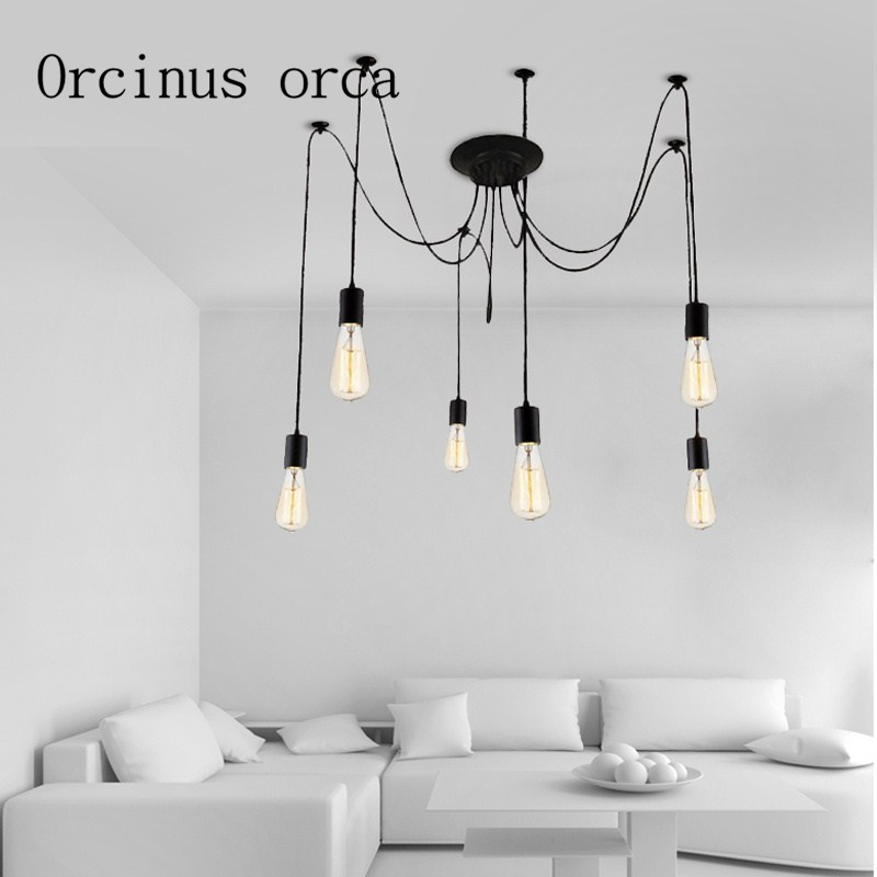 Nordic Industrial Wind retro restaurant living room spider lamp creative clothing store bar Chandelier