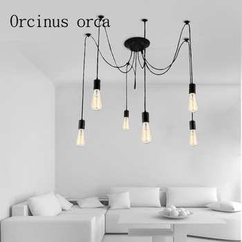 Nordic Industrial Wind retro restaurant living room spider lamp creative clothing store bar Chandelier