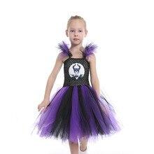 Vestido de la muchacha Evil Queen Cartoon Girl Bola de Halloween fiesta para  niña niños Cosplay trajes Venta caliente 61f48a80b3c3