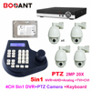 4CH 1080P 5 In 1 AHD DVR HD PTZ 2MP Middle Speed Dome Camera 20x Zoom