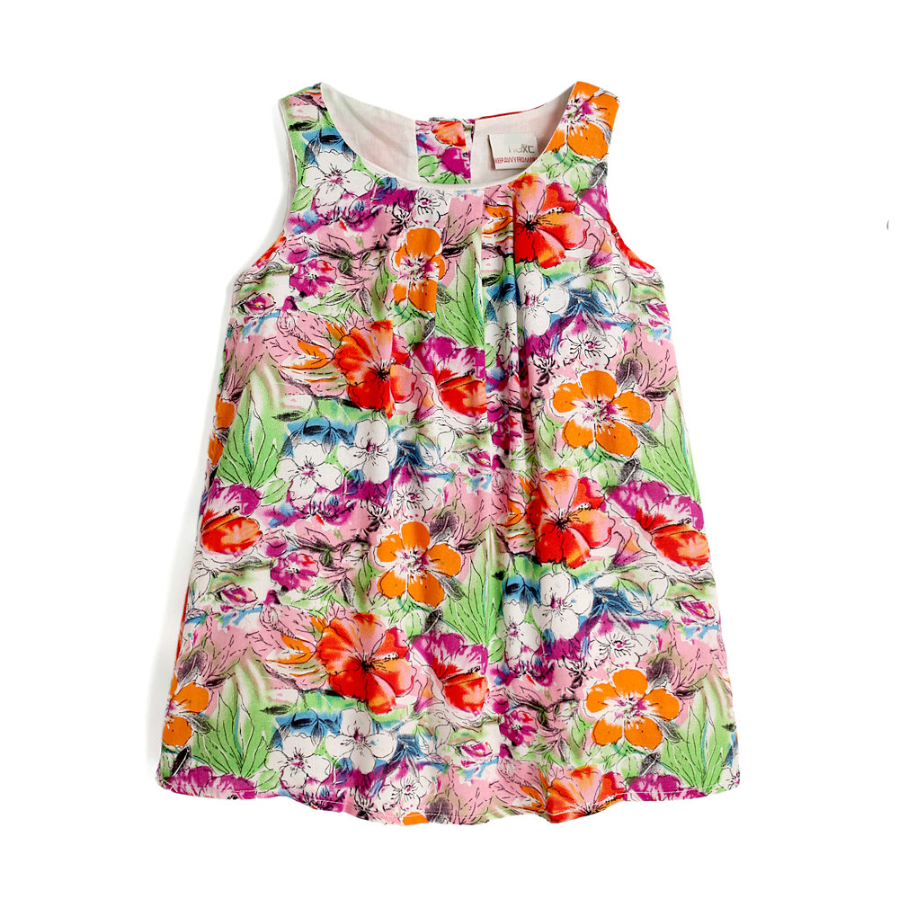 Retail promotion New summer beach flower girl dress casual todder girl dresses for party SHXA015