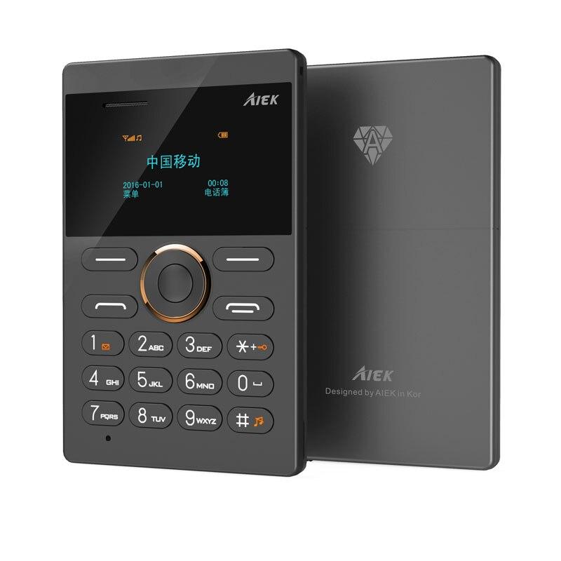 Wholesale 15PCS As One Package Hottest Mini Phone AIEK E1 Card Phone Cheap phone