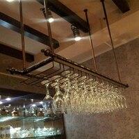 Wrought iron wine rack wine glass rack wall hanging cup holder wine rack white, matt black, bronze