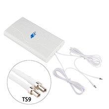 Mimo 4g 88dBI 3G 4G LTE anten mobil anten yükseltici mImo Panel anten 2 * sma erkek/TS9/CRC9 kablolu konnektör 700 ~ 2600Mhz