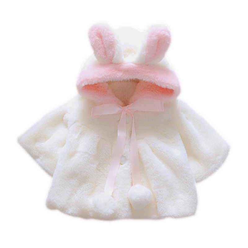 a1bbc59ca Winter Baby Girls Clothes Faux Fur Fleece Wool   Blends Coat Pageant ...