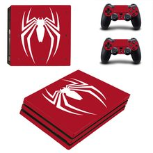 PS4 Pro Skin Sticker Decal for PlayStation 4 Console and 2 Controller PS4 Pro Skin Sticker Vinyl - Avengers Spiderman Spider Man(China)