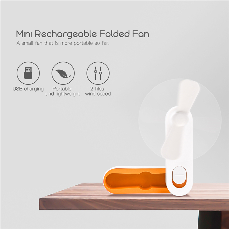 Mini USB Fan Portable Ventilation Foldable Air Conditioning Fan For Office Home Rechargeable Fan Cooling ventilatore portatile