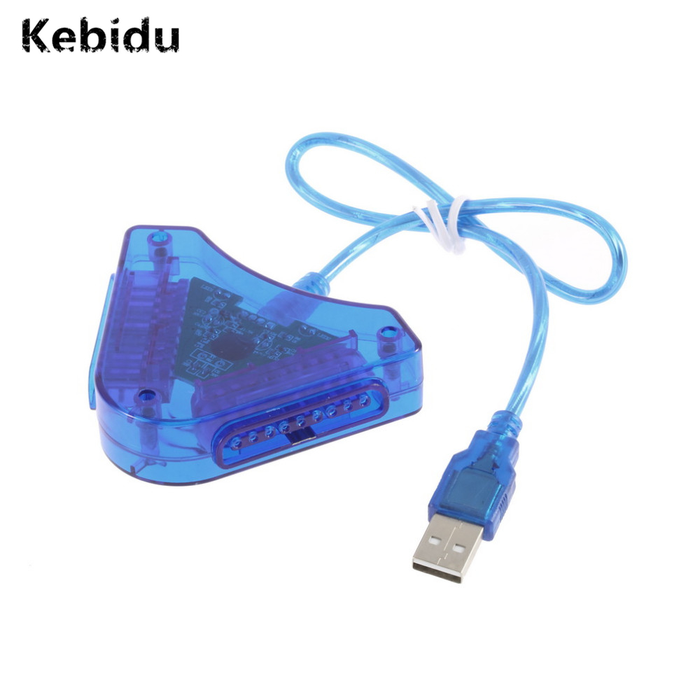 Dual PS1 PS2 PSX Controller Game Console Joystick To PC USB Converter Adapter