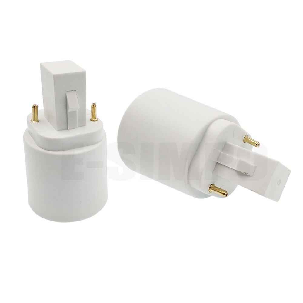 G24 To E26 E27 Socket Adapter Adaptor 2pin Bombillas Led Wiring Diagram 1pc Converter