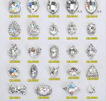 100PCS/Lot  2016 NEW Design Real K9 Crystal Stone Charming 3D Nail Art Designs Manicure Jewelry Rhinestones DIY Decoration