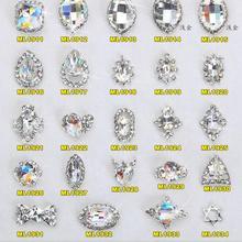 Manicure Jewelry Rhinestones Charming Diy-Decoration Nail-Art-Designs Real K9 3D 100pcs/Lot
