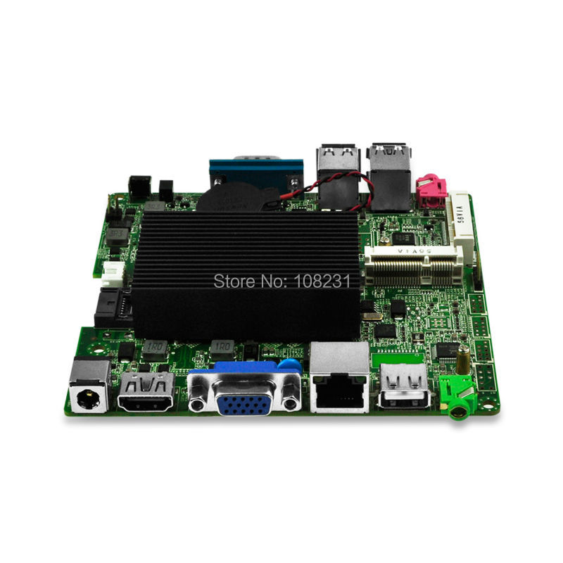 QOTOM Bay Trail j1900 mini itx motherboard Q1900G-P, Quad core 2.42Ghz, DC 12V nano itx motherboard m945m2 945gm 479 motherboard 4com serial board cm1 2 g mini itx industrial motherboard 100