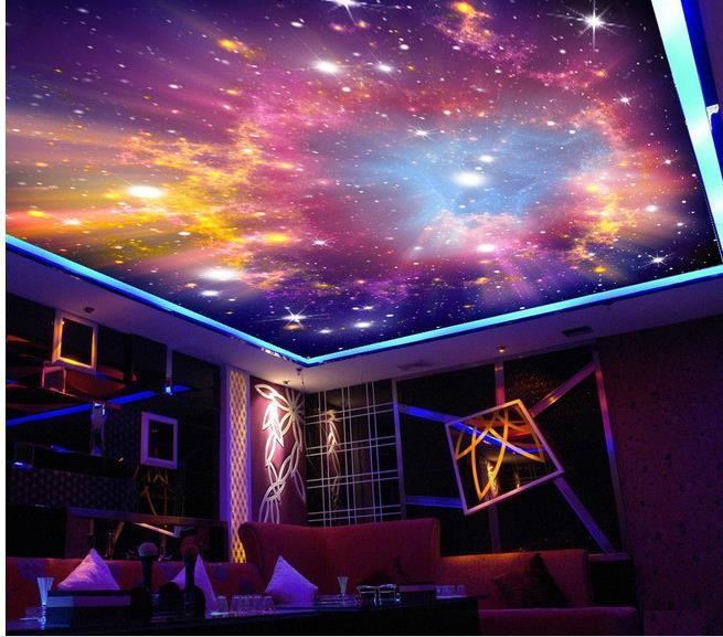 Wallpaper 3d Ceiling Star Sky Ceiling Frescoes Mural 3d Wallpaper 3d Ceiling Murals Wallpaper