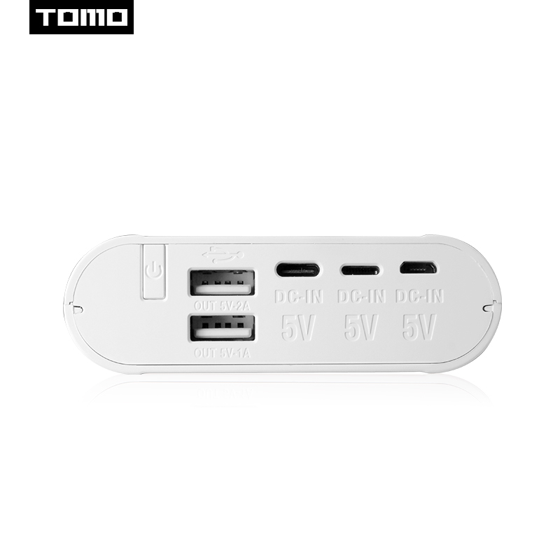 TOMO 18650 charger powerbank case S4 lithium battery storage diy box LCD display Type C 3 USB input ports