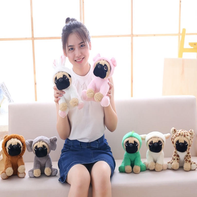 7 Pieces/lot Wholsale 20 CM SharPei Turned Dog Doll Plush Toy Cute Dog Doll Simulation Belldog Pug Stuffed Animals Toys-in Stuffed & Plush Animals from Toys & Hobbies    1