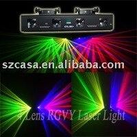 4 цвета 4 объектив с зеленый + фиолетовый + желтый + красный лазерный луч DMX DJ Дискотека вечерние Stage света (CTL DC +)