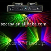4 color 4 lens with green+violet+yellow+red Laser Light DMX DJ Disco Club Party Stage light(CTL DC+)