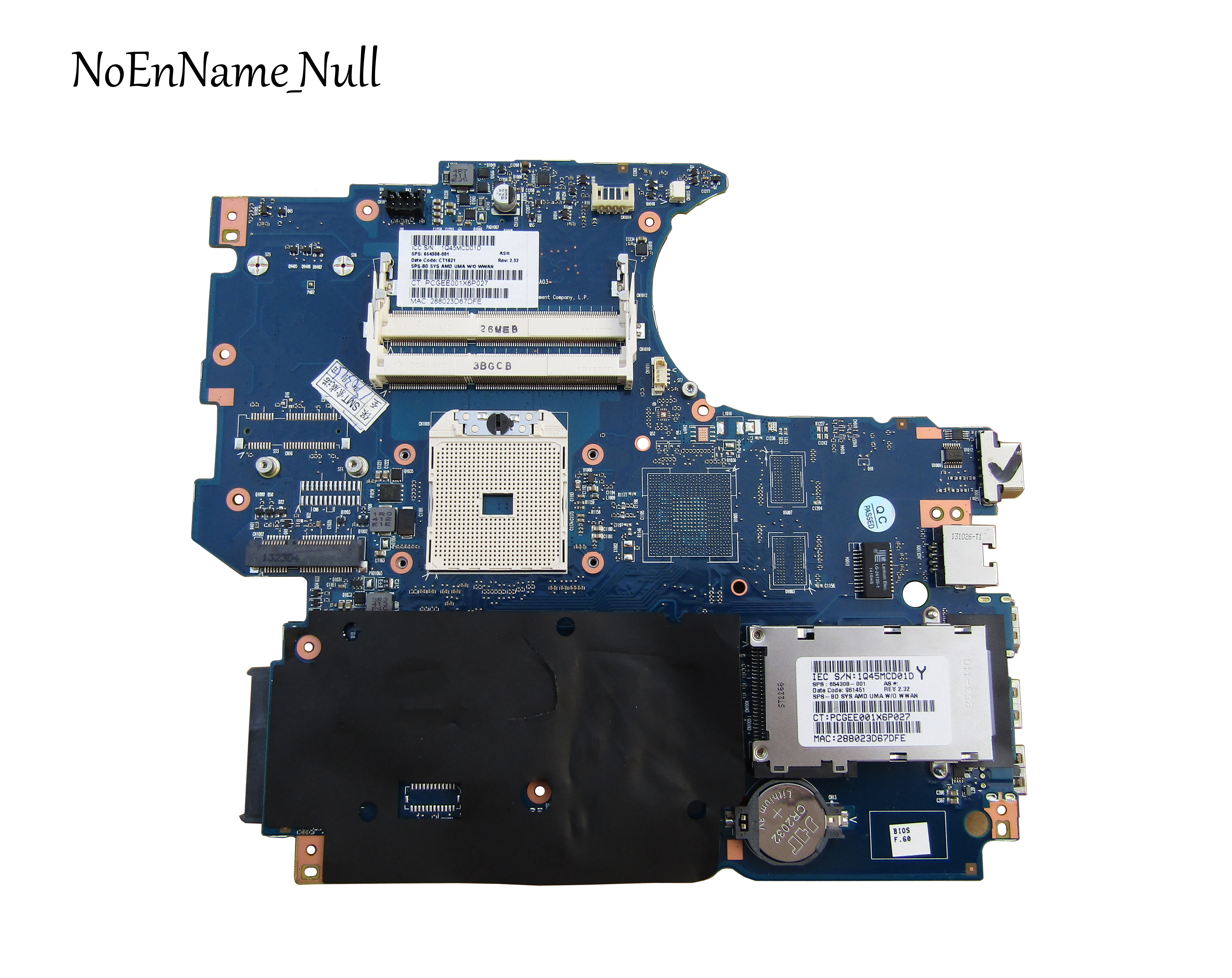 654308-001 Free Shipping FOR HP ProBook 4535S Motherboard PIXIES-6050A2426501-MB-A03 Laptop Motherboard Mainboard