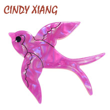 CINDY XIANG Acetate Fiber Swallows Brooches for Women Fashion Animal Brooch Pin Acrylic Broches New Design Jewelry Gift