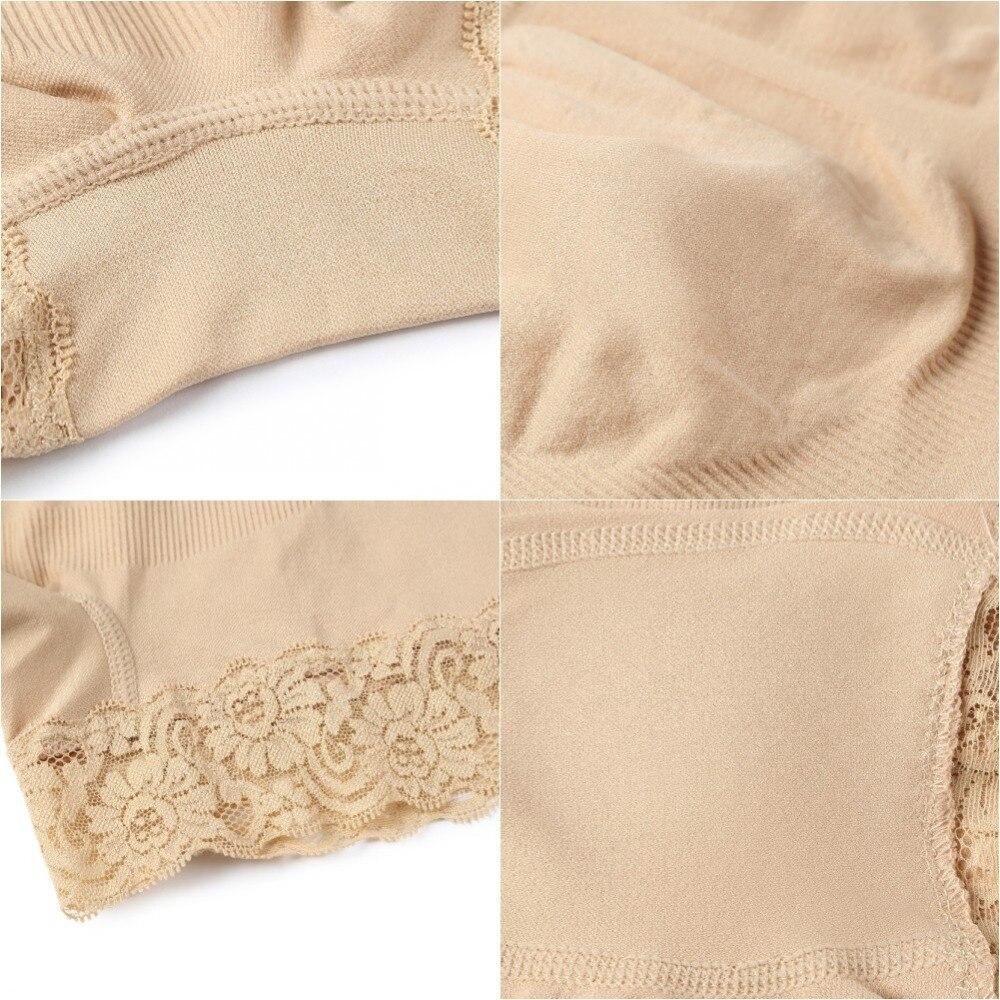 Fashion New  Flat Angle Lace High Waist Body Shaping Body Hip Underwear Elastic Anti-going Beam Waist Pants Pakistan