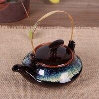 النمط الياباني اليدوية العتيقة إبريق صغير طين الفخار والخزف الكونغ فو بوير حفل الشاي مجموعة ديكور المنزل الحلي هدية