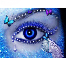 beautiful eyes diamond Embroidery diy painting mosaic diamant 3d cross stitch pictures H482