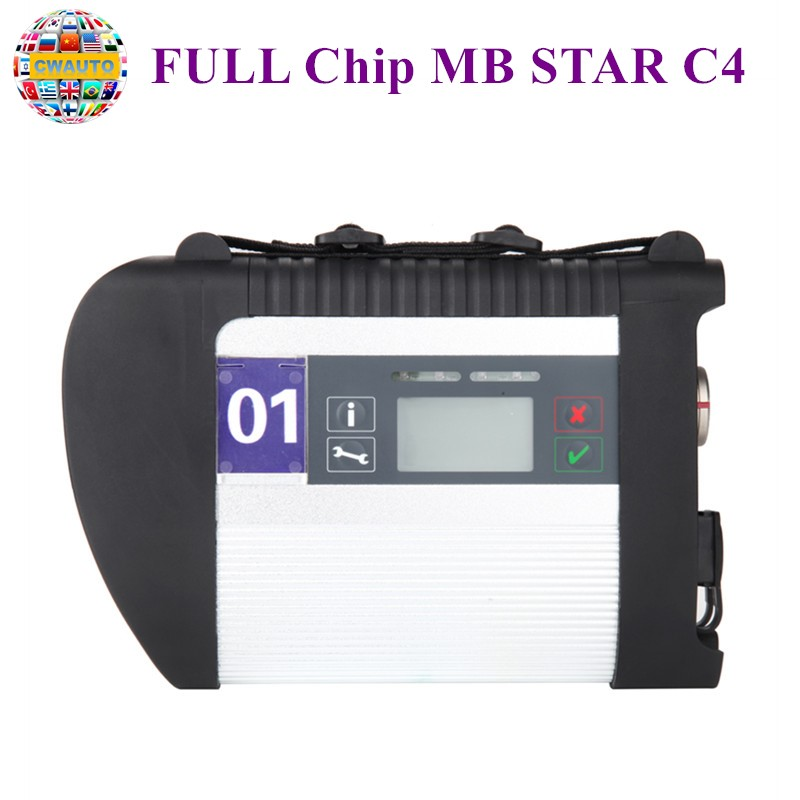 MB Star C4 SDconnect C4 Diagnostic Auto Multiplexer Full Chip Support Cars And Trucks Support Wifi High Quality Star Diagnosis