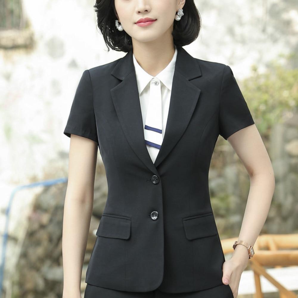 Blazer Wear To Work Office Uniform Style Lady Tops Clothing Fall Women Dress Summer Desi ...
