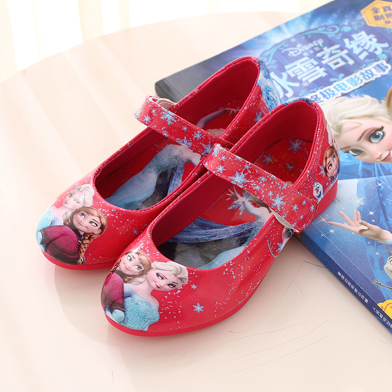 Children Shoes Autumn Girls Blue Shoes Kids Princess Shoes Girls Leather Sneakers Cartoon Baby Sandals