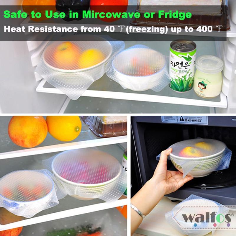 WALFOS 1 stykke madkvalitet Holde mad frisk wrap genanvendelig høj - Hjem opbevaring og organisation - Foto 2