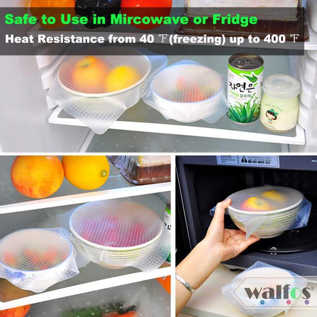 Online Shop Walfos 1 Piece Food Grade Keeping Food Fresh Wrap