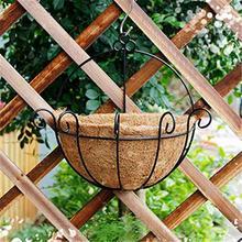 Полукруглый цветочный горшок из натурального кокосового какао волокна лайнер полукруг для настенных подвесных корзин для домашнего сада Свадебный декор