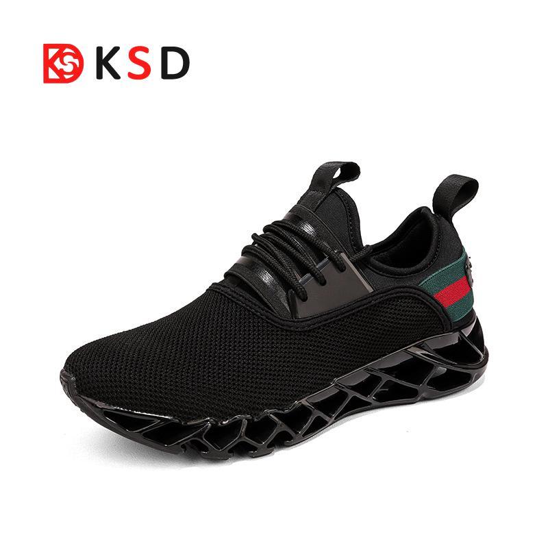 Hombres Zapatillas Hombre zapatillas 2018 nuevos zapatos del deporte masculino verano estilo hoja transpirable zapatos que caminan al aire libre