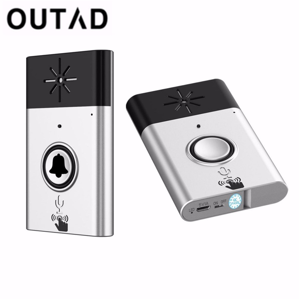 OUTAD Wireless Doorbell Voice Intercom 300m Distance Remote Control Distance Outdoor Transmitter Indoor Receiver Home Security купить