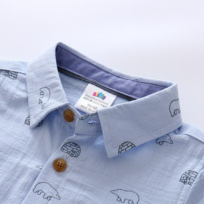 Boys Shirts Solid Pattern Kids Fashion Cotton Shirts Long Sleeve Spring & Autumn Children Brand Clothes