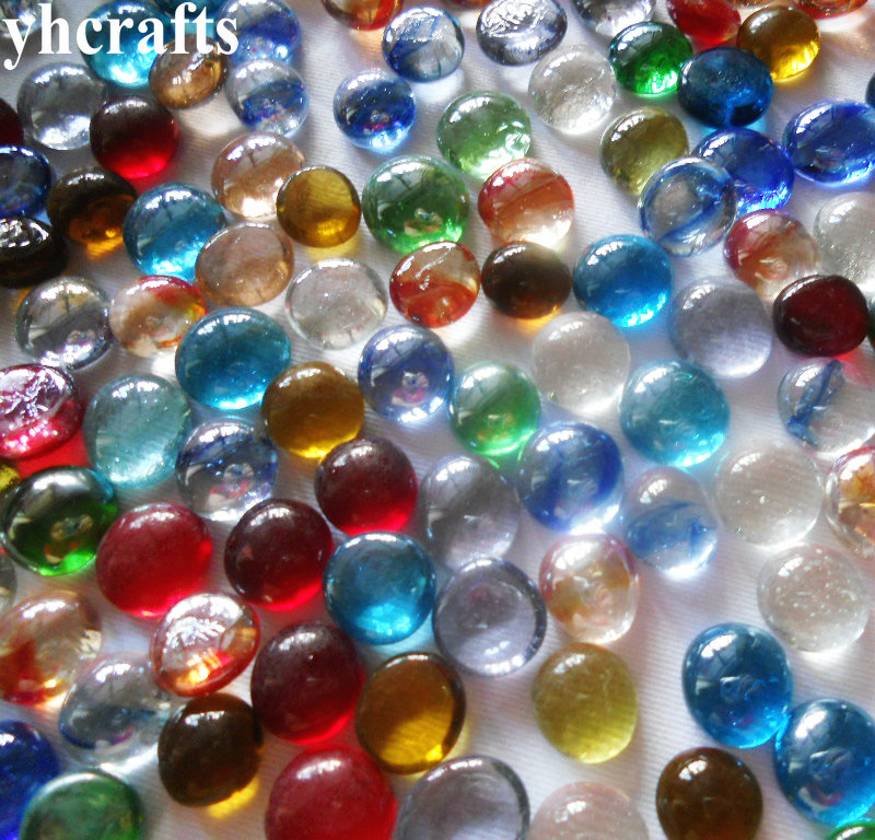 180PCS(450gram)/LOT,Mix 1.5cm round glass beads,Glass