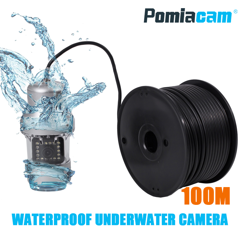 F08S 100M cable with camera Underwater camera video waterproof 360 Underwater detection camera for well / lake detectionF08S 100M cable with camera Underwater camera video waterproof 360 Underwater detection camera for well / lake detection