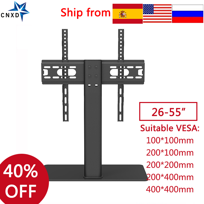"Image 5 - Universal TV Table Monitor Base Stand Stable and Safety TV Floor Stand for Plasma LED LCD TV 32"" to 55"" up to 88lbstv floor standstand for tvfloor tv stands - AliExpress"