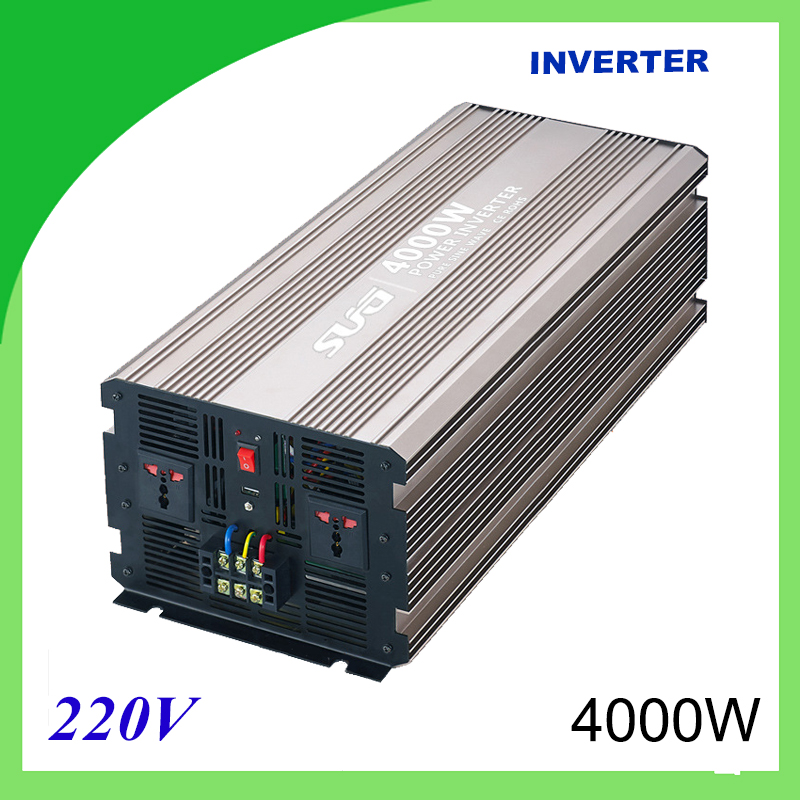 4000W pure sine wave solar power inverter DC 12V 24V to AC 110V 220V digital