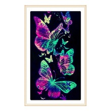 Full Round Diamond 5D DIY Sexy Exquisite Butterfly Cross Stitch Mosaic Decorative Painting Gift